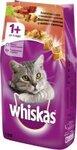 Whiskas 1,9 кг./Вискас сухой корм для кошек Говядина/Кролик под паштетом