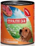 Трапеза750 гр./Консервы для собак с бараниной
