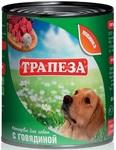 Трапеза 750 гр./Консервы для собак с говядиной