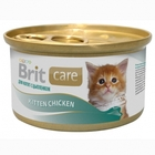 Brit Care 80 гр./Брит Каре Консервы суперпремиум класса для котят Цыпленок