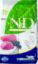 Farmina N&D Cat Lamb & Blueberry Adult 300 гр./Фармина сухой беззерновой  корм для кошек ягненок с черникой