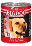 Зоогурман BIG DOG 850 гр./Консервы Биг Дог для собак телятина с овощами
