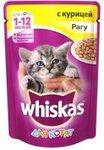 Whiskas 85 гр./Вискас консервы в фольге для котят Рагу с курицей