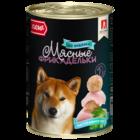 Зоогурман 410 гр./Консервы для собак Мясные фрикадельки с индейкой
