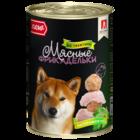 Зоогурман 410 гр./Консервы для собак Мясные фрикадельки с телятиной