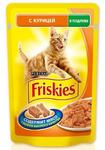 Friskies 100 гр./Фрискис консервы в фольге для кошек с курицей в подливе