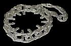 Зооник/Ошейник строгий пластинчатый сварная цепь, цинк  (ТМ-3201) 0807