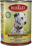 Berkley 400 гр./Беркли консервы  для щенков с кроликом и овсянкой
