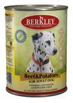 Berkley 400 гр./Беркли консервы  для собак говядина с картофелем