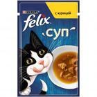 Felix 48 гр./Феликс Влажный корм суп для взрослых кошек с курицей