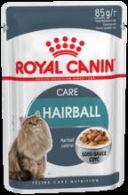 Royal Canin Hairball Care 85 гр./Роял канин консервы для кошек тщательно сбалансированная фор-мула, помогающая естественным образом снизить риск образования волосяных комочков