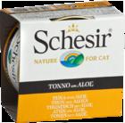 Schesir 85 гр./Шезир консервы для кошек тунец с алоэ