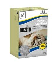 Bozita Funktion Indoor Sterilised 190 гр./Бозита консервы для домашних, пожилых кошек, кастрир. котов и стерилиз. кошек Кусочки в желе с Курицей 190 г