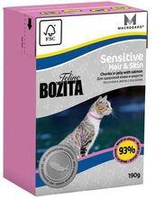 Bozita Funktion Sensitive Hair Skin 190 гр./Бозита консервы для длинношерстных кошек с чувствительной кожей и шерстью Кусочки в желе с Лососем 190 г