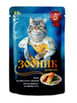 Зооник 85 гр./Консервы для кошек в соусе с форелью