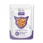 Brit Care 80гр./Брит Каре Суперпремиальный влажный корм для котят  Курица и сыр