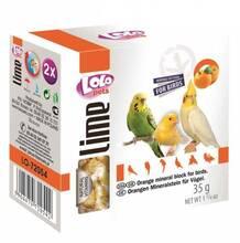 Lolo Pets 35 гр./Ло Ло Петс Минеральный камень для птиц с апельсином