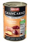 Animonda GranCarno Sensitiv 400 гр./Анимонда консервы для собак с чувствительным пищеварением с индейкой и картошкой