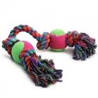 Triol/Игрушка  для собак Веревка 4 узла+2 мяча/0067XJ