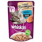 Whiskas 85 гр./Вискас Корм влажный Мясная коллекция с лососем в желе