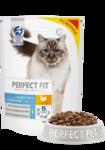 Perfect Fit Hair&Skin 650 гр./Перфект Фит сухой корм для кошек для поддержания здоровья кожи и красоты шерсти кошки