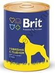 Brit Premium 850 гр./Брит  консервы для активных собак Говядина с пшеном