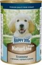 Happy Dog 400 гр./Хэппи Дог консервы для щенков телятина с печенью, сердцем и рисом