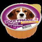 Зоогурман 100 гр./Консервы для собак Мясной рацион говядина с сердцем