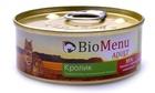 BioMenu ADULT 100 гр./БиоМеню консервы для кошек паштет с кроликом