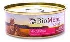 BioMenu ADULT 100 гр./БиоМеню консервы для кошек паштет с индейкой