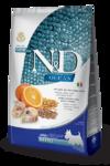 Farmina N&D Ocean 2,5 кг./Фармина для взрослых собак мелких пород с треской, овсом, спельтой и апельсином