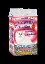 Pussy-Cat 4,5 л./Пуси-Кет наполнитель древесный для кошек