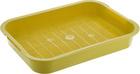 HOMECAT/Туалет для кошек с сеткой на ножках 2 см желтый Бюджет 37х27х8 см