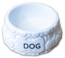 Миска КерамикАрт керамическая для собак Дог белая 200 мл