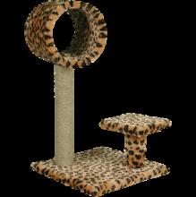 Зооник/Когтеточка на подставке, одн.мех, с полочкой и трубой  22324