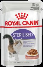 Royal Canin Sterilised 85 гр./Роял канин консервы в фольге для стерилизованных кошек в соусе
