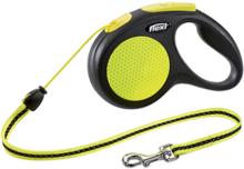 FLEXI Neon New Classic М /Поводок рулетка (до 20 кг) трос 5 м