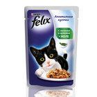 Felix 85 гр./Феликс консервы в фольге для кошек лосось и цукини в желе