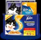 Felix 3x85 гр.+12 гр./Феликс Вкусное ассорти курицей, с уткой, с печенью + хрустящий топпинг