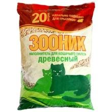 Зооник 20 л./Наполнитель для кошек Древесный