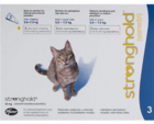 Stronghold 45 мг./Стронгхолд Противопаразитарные капли для кошек от 2,6 до 7,5 кг 3 пипетки