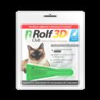 Рольф Клуб 3Д акарицидные капли д/кошек до 4 кг