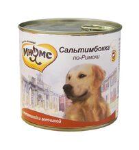 Мнямс 600 гр./Консервы для собак Телятина с ветчиной