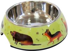"""Миска Super Design на меламиновой подставке """"Собачки"""" 0,16 л"""